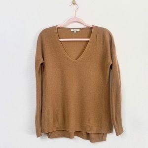 Madewell Camel Warm Light Knit V Neck Tan Sweater